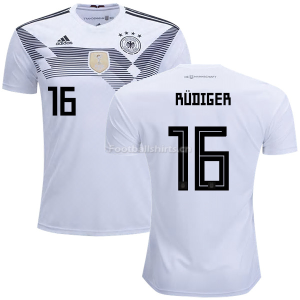 Germany 2018 World Cup ANTONIO RUDIGER 16 Home Soccer Jersey