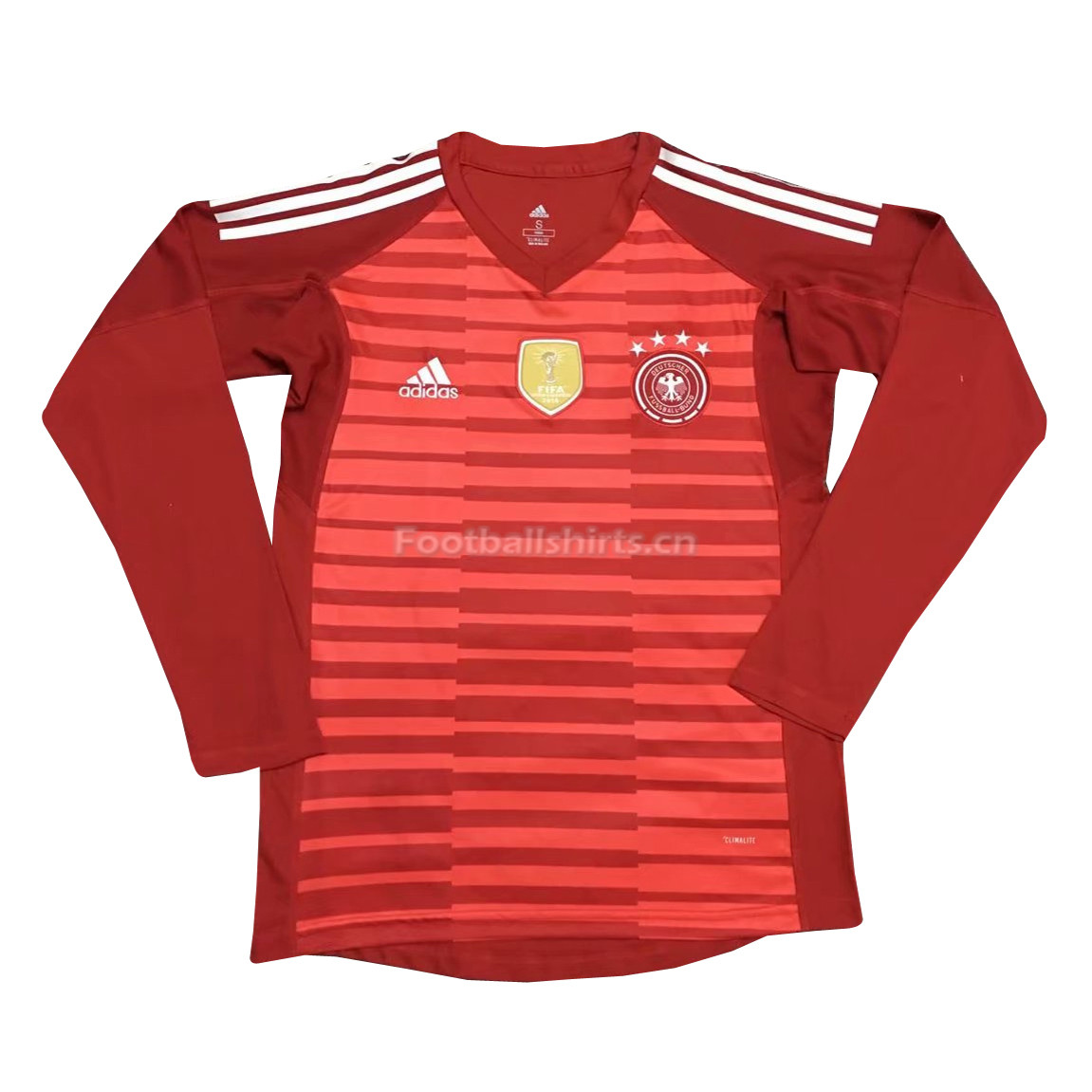 Germany 2018 FIFA World Cup Goalkeeper Red LS Soccer Jersey