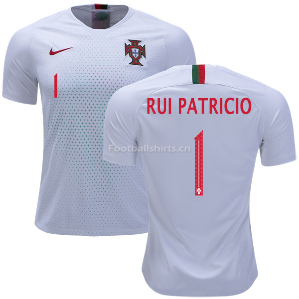 Portugal 2018 World Cup RUI PATRICIO 1 Away Soccer Jersey