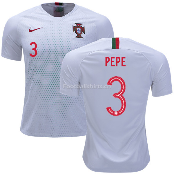 Portugal 2018 World Cup PEPE 3 Away Soccer Jersey