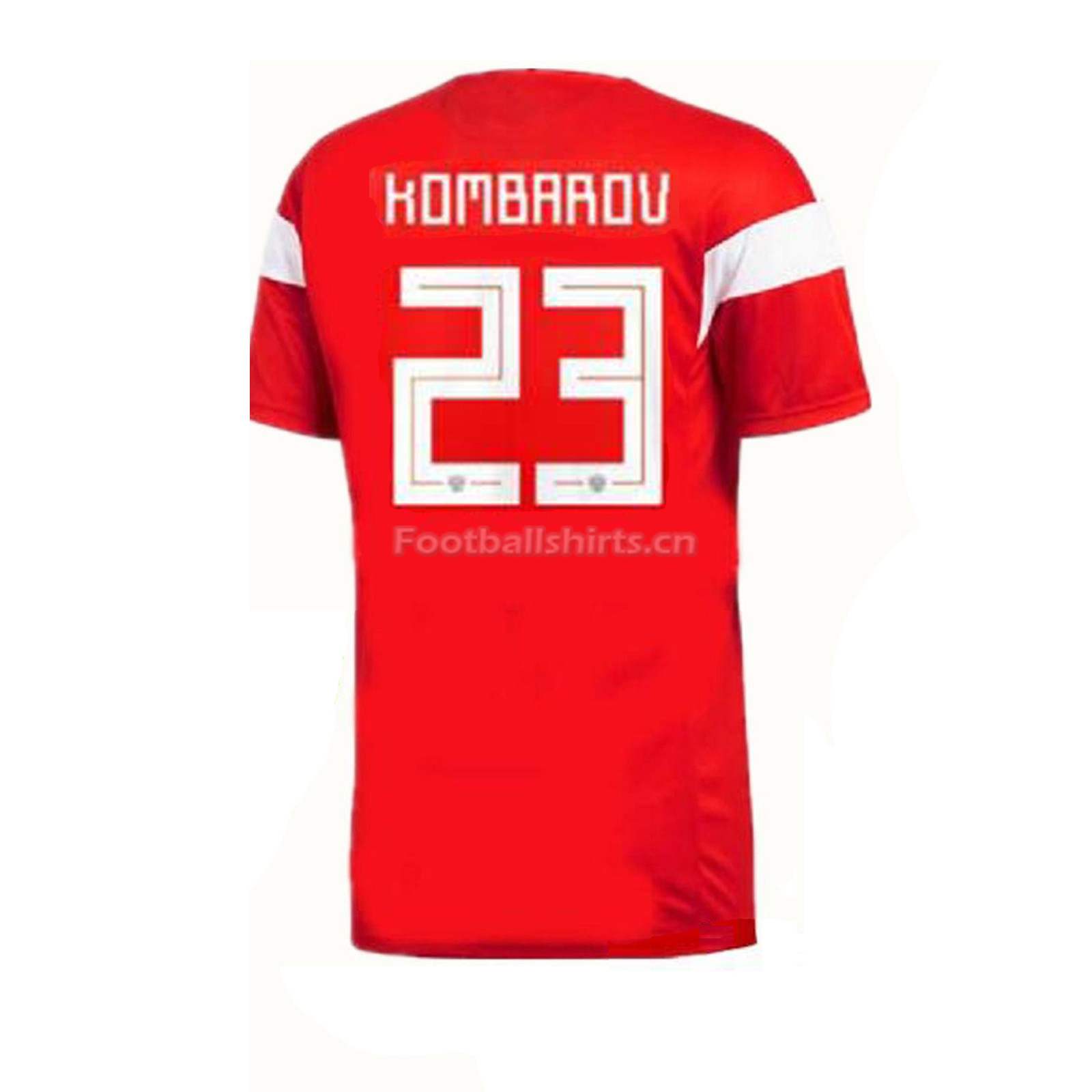 Russia 2018 World Cup Home Dmitriy Kombarov Soccer Jersey