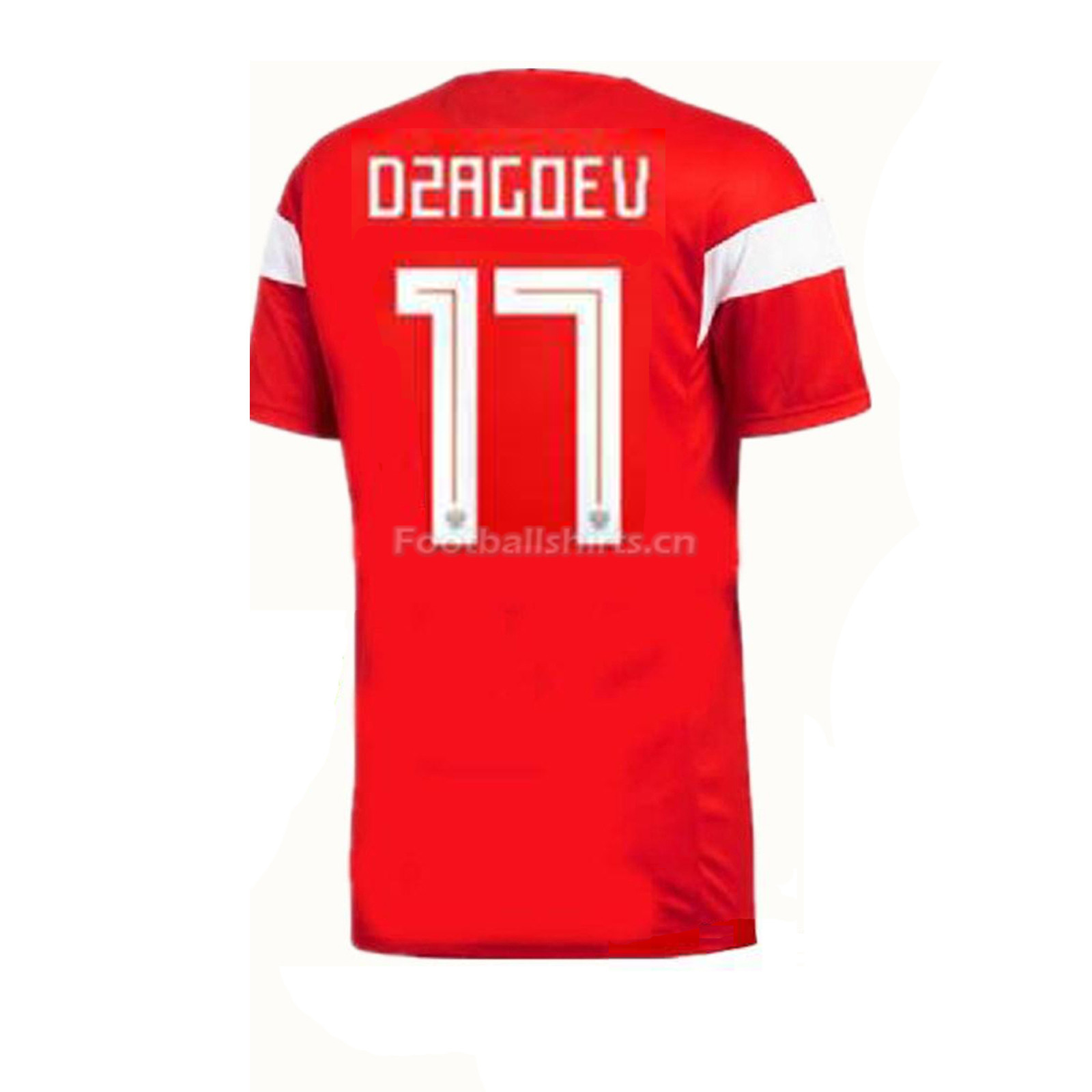 Russia 2018 World Cup Home Dzagoev Soccer Jersey