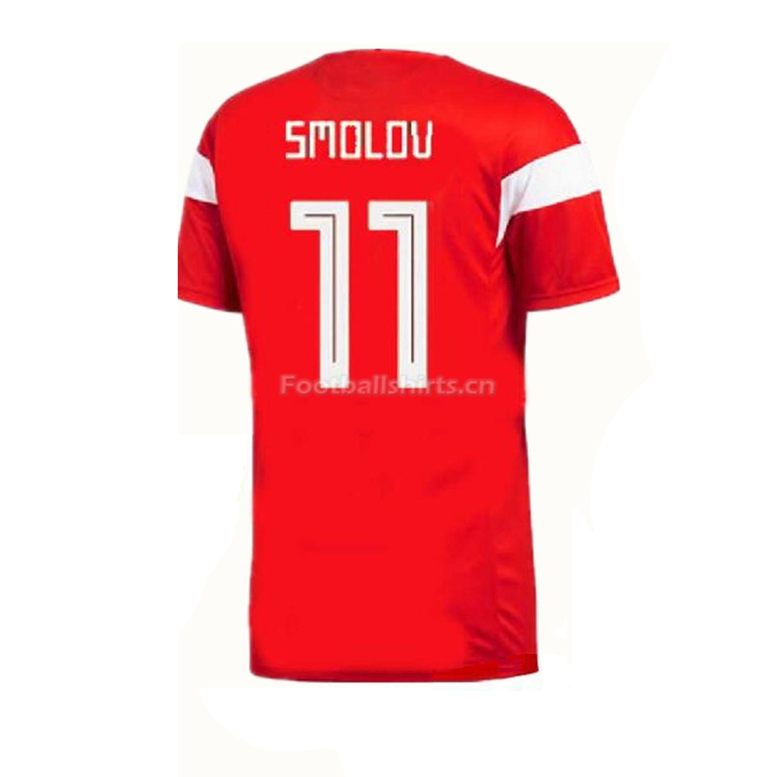 Russia 2018 World Cup Home Fyodor Smolov Soccer Jersey