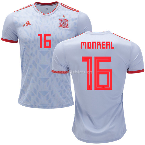 Spain 2018 World Cup NACHO MONREAL 16 Away Soccer Jersey