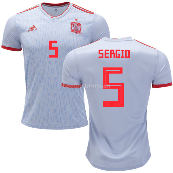 Spain 2018 World Cup SERGIO BUSQUETS 5 Away Soccer Jersey