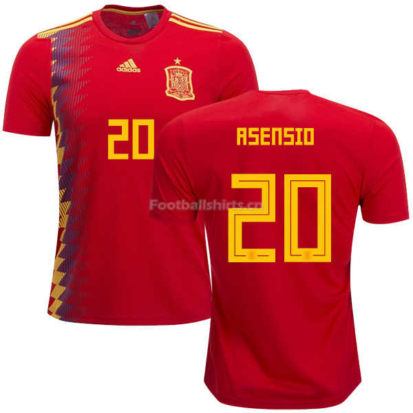 Spain 2018 World Cup MARCO ASENSIO 20 Home Soccer Jersey