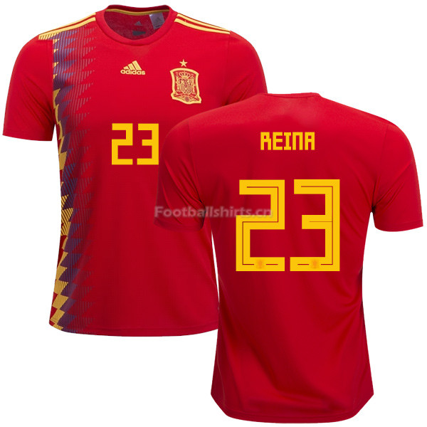 Spain 2018 World Cup PEPE REINA 23 Home Soccer Jersey