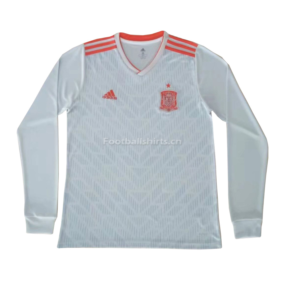 Spain 2018 World Cup Away Long Sleeve Soccer Jersey