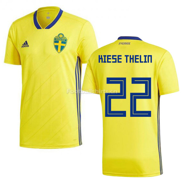 Sweden 2018 World Cup ISAAC KIESE THELIN 22 Home Shirt Soccer Sh