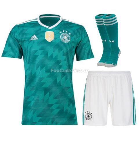 Germany 2018 World Cup Away Soccer Jersey Whole Kits (Shirt+Shor