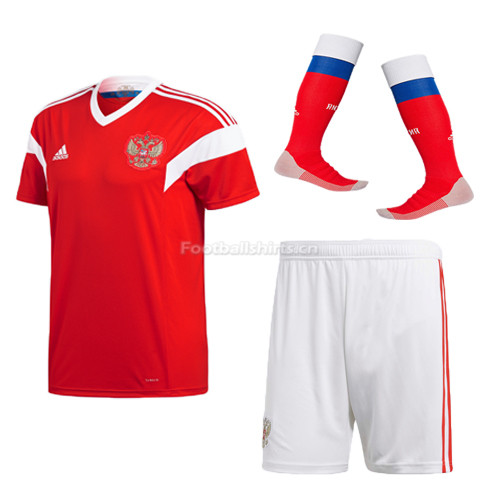 Russia 2018 World Cup Home Soccer Kits (Jersey + Shorts +Socks)