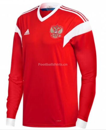 Russia 2018 World Cup Home Long Sleeve Soccer Jersey
