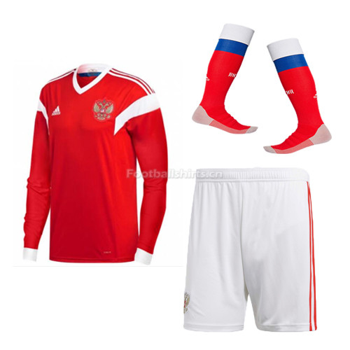 Russia 2018 World Cup Home Long Sleeve Soccer Kits (Jersey + Sho