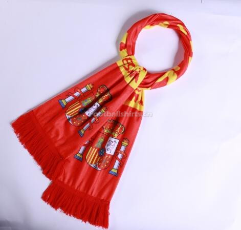 Spain 2018 World Cup Soccer Scarf Red