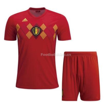 Belgium 2018 World Cup Home Soccer Kits (Shirt+Shorts)