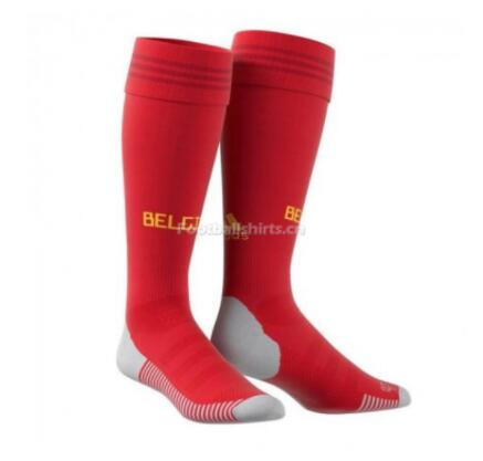 Belgium 2018 World Cup Home Red Socks