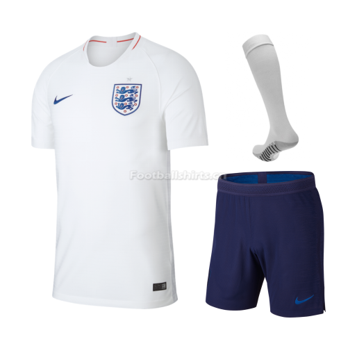 England 2018 FIFA World Cup Home Soccer Jersey Kits (Shirt+Short