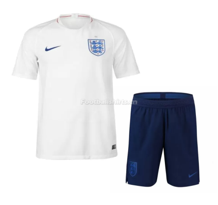 England 2018 FIFA World Cup Home Soccer Jersey Uniform (Shirt+Sh