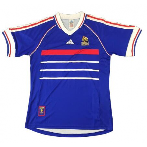 Retro France Home Soccer Jersey 1998