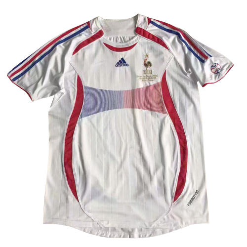 Retro France Away Soccer Jersey Final 2006 World Cup