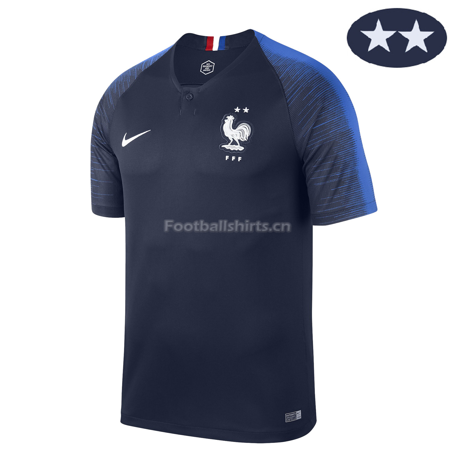 France 2018 World Cup Home 2-Star Soccer Jersey