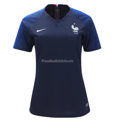 France 2018 World Cup Home Women's Soccer Jersey