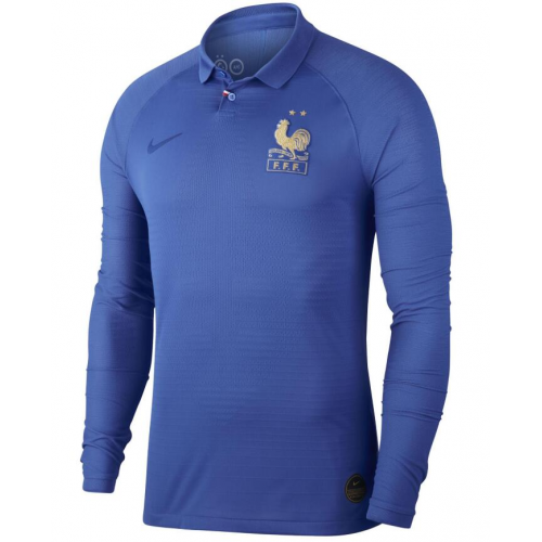 France Home Soccer Jersey Long Sleeve Player Version 2019