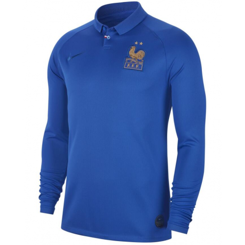 France Home Soccer Jersey Long Sleeve 2019