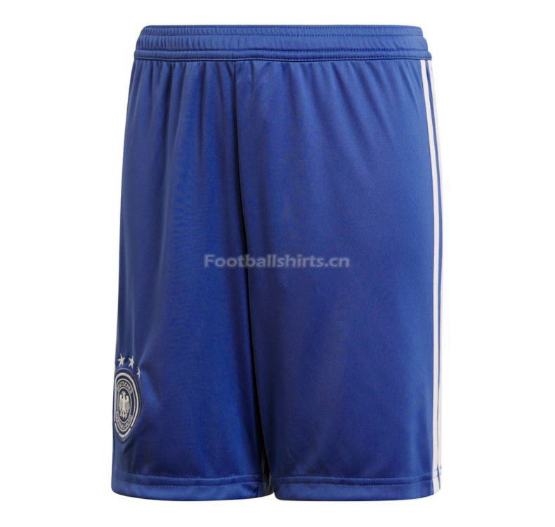 Germany 2018 World Cup Goalkeeper Soccer Shorts Blue