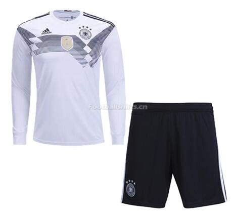 Germany 2018 World Cup Home LS Soccer Jersey Kits With Shorts