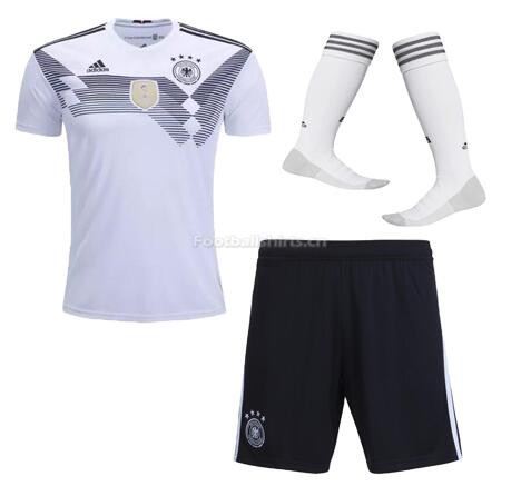 Germany 2018 World Cup Home Soccer Jersey Whole Kits (Shirt+Shor