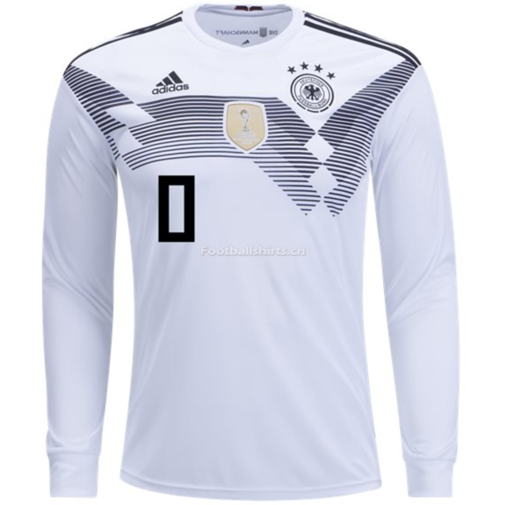 Germany 2018 World Cup Home Long Sleeve Personalized Soccer Jers