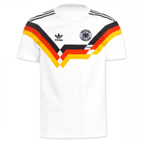 Retro West Germany Home Soccer Jersey 1990