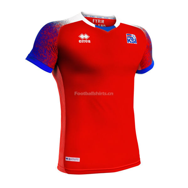 Iceland 2018 FIFA World Cup Third Away Soccer Jersey Red