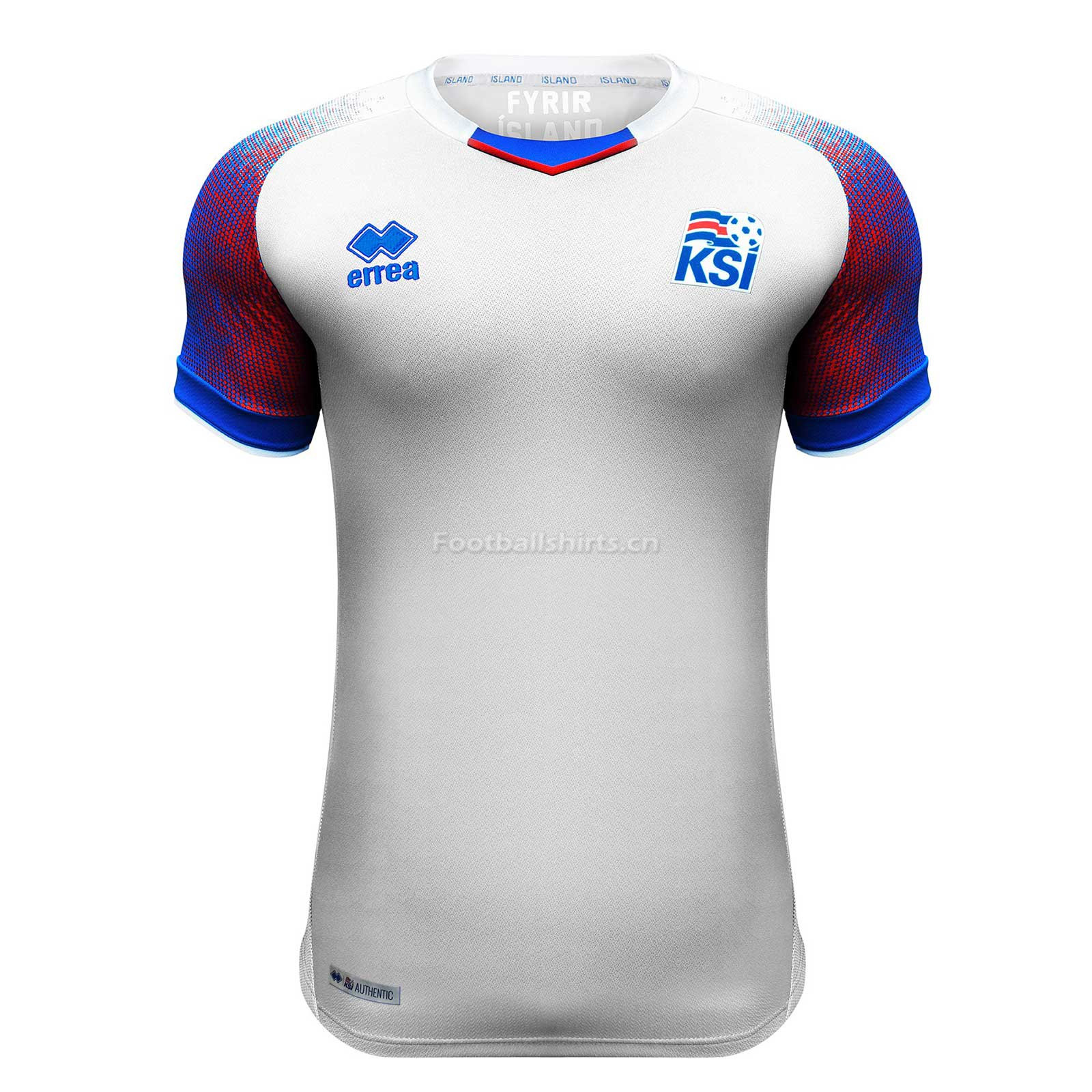 Iceland 2018 FIFA World Cup Away Soccer Jersey White