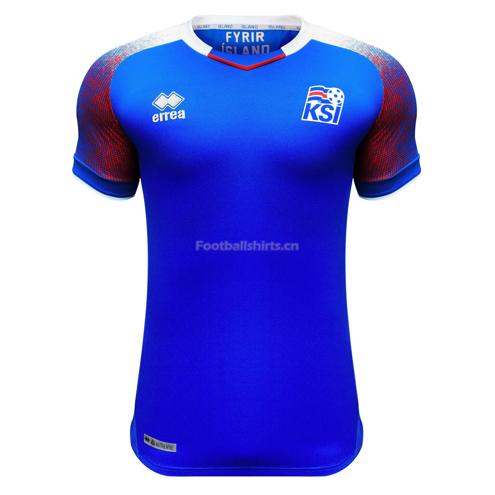 Iceland 2018 FIFA World Cup Home Soccer Jersey Blue