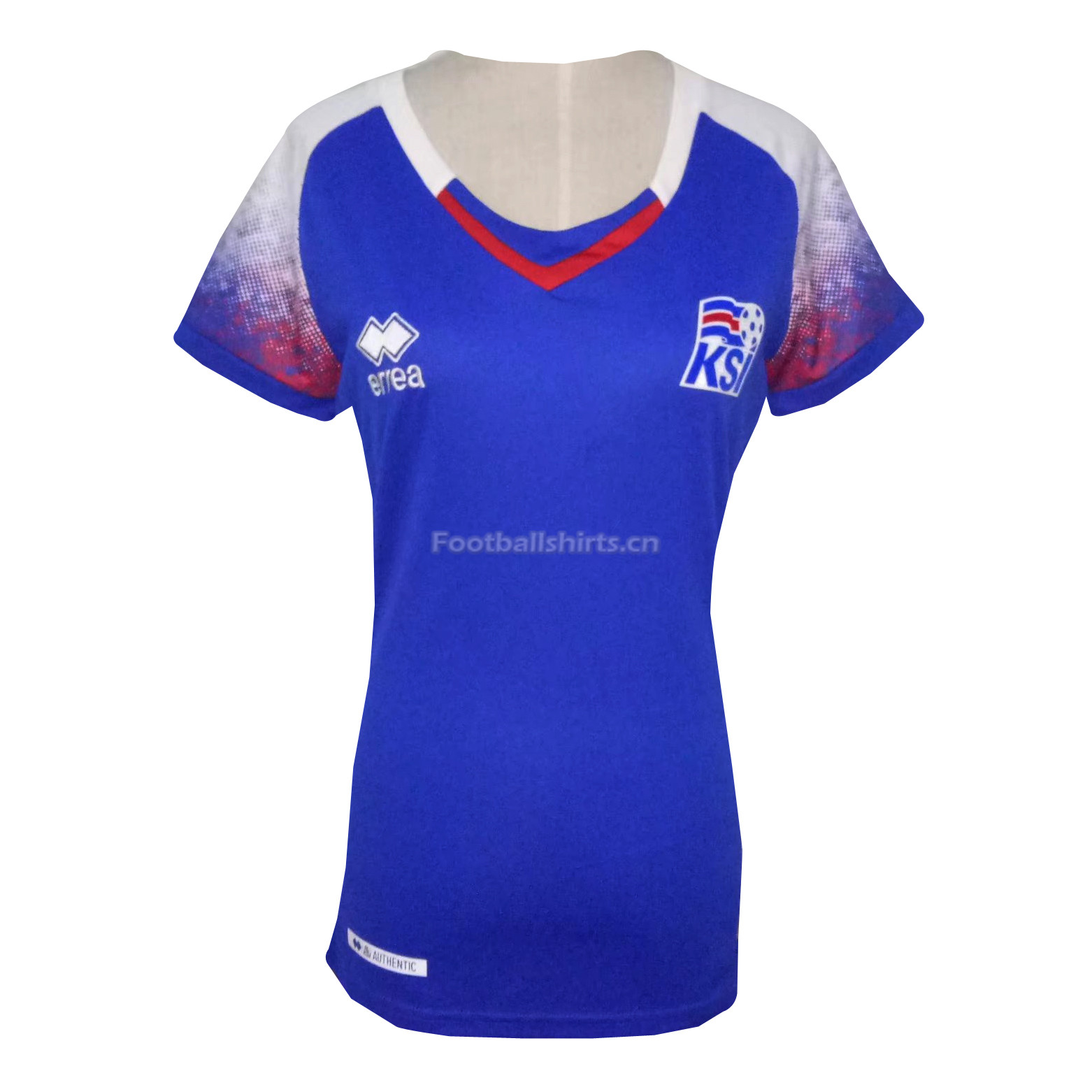 Iceland 2018 FIFA World Cup Women's Home Soccer Jersey Blue