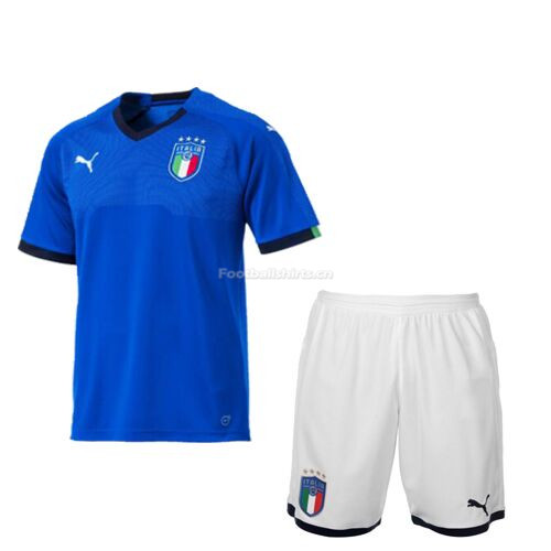 Kids Italy Home Soccer Kit Shirt + Shorts 2018/19
