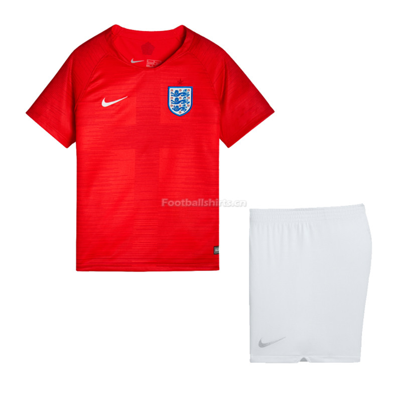 Kids England 2018 World Cup Away Soccer Kit Shirt + Shorts