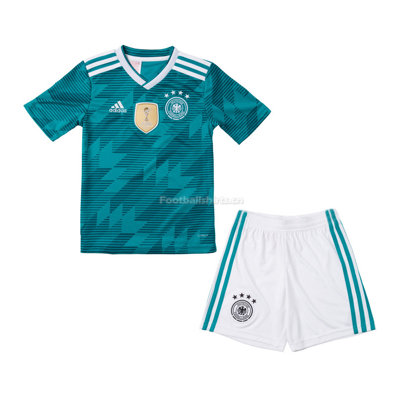 Kids Germany 2018 World Cup Away Soccer Kit Shirt + Shorts