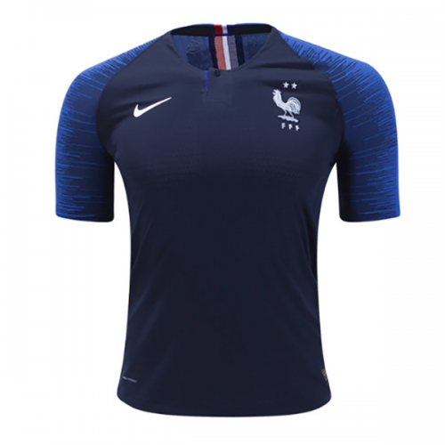 Match Version France 2018 World Cup Home 2-Star Soccer Jersey