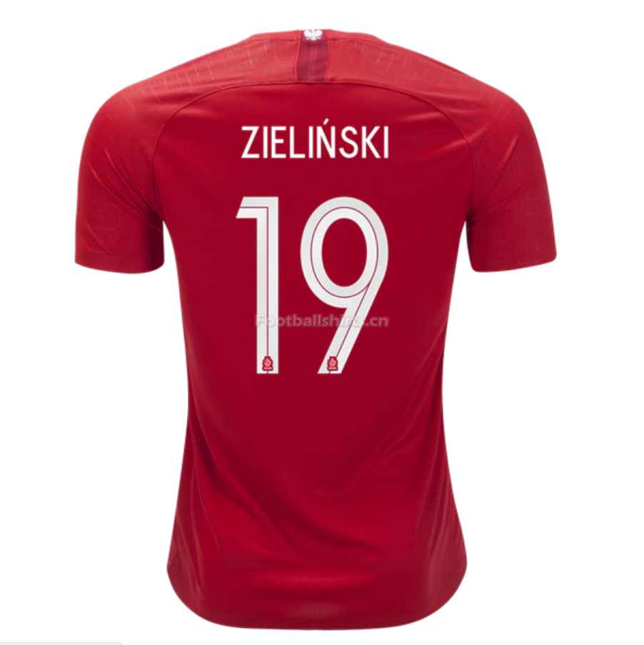 Poland 2018 World Cup Away Piotr Zielinski Soccer Jersey
