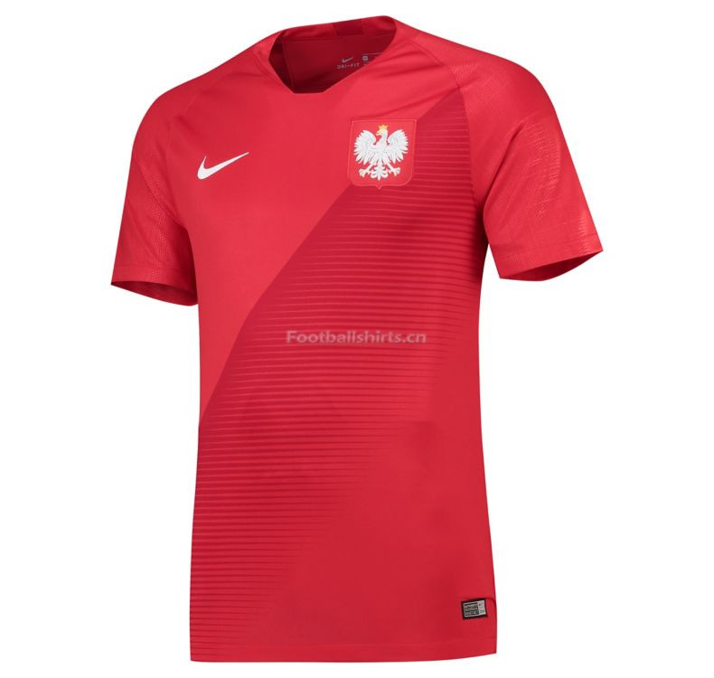 Poland 2018 World Cup Away Soccer Jersey Red