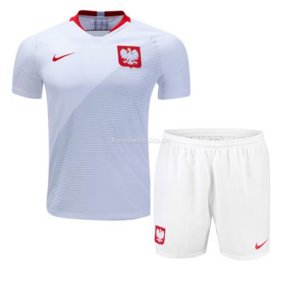 Poland 2018 World Cup Home Soccer Jersey Kits (Shirt+Shorts)