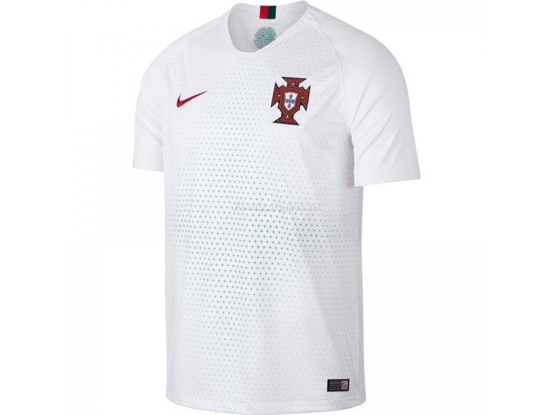 Portugal 2018 World Cup Away White Soccer Jersey