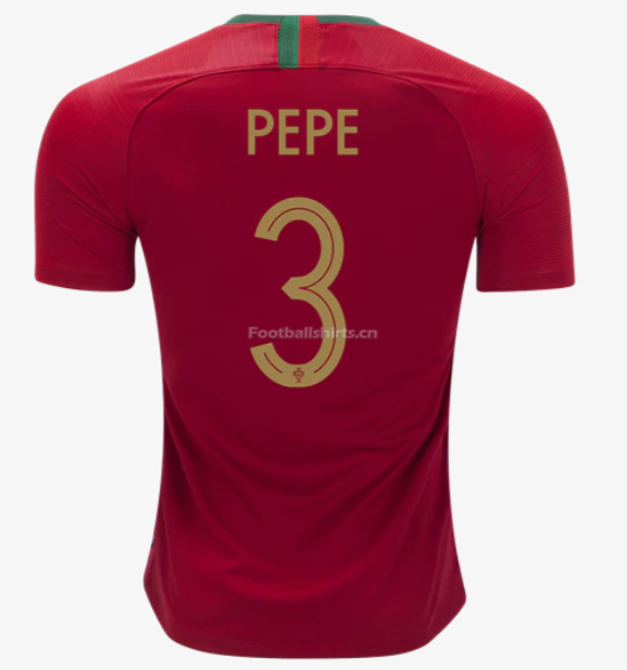 Portugal 2018 World Cup Home Pepe Soccer Jersey