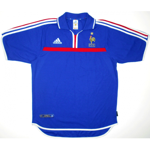 France Retro Home Soccer Jersey 2000 EURO