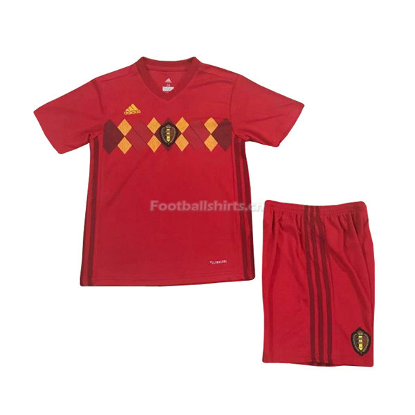 Kids Belgium 2018 World Cup Home Soccer Kit Shirt + Shorts