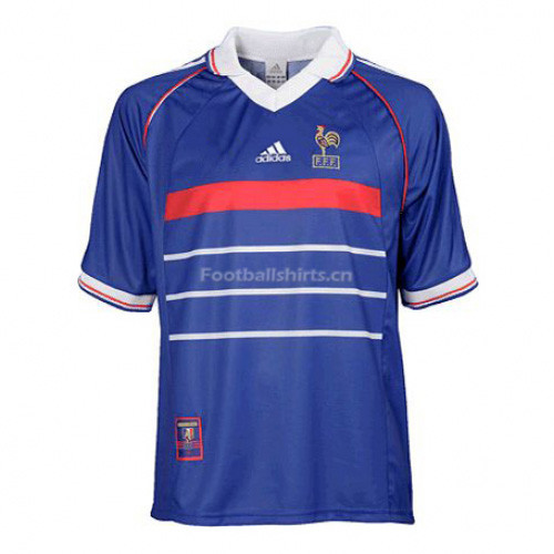 France 1998 Home Retro Soccer Jersey