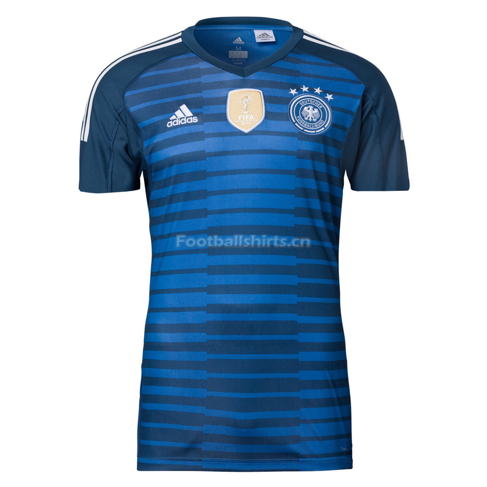 Germany 2018 FIFA World Cup Goalkeeper Blue Soccer Jersey